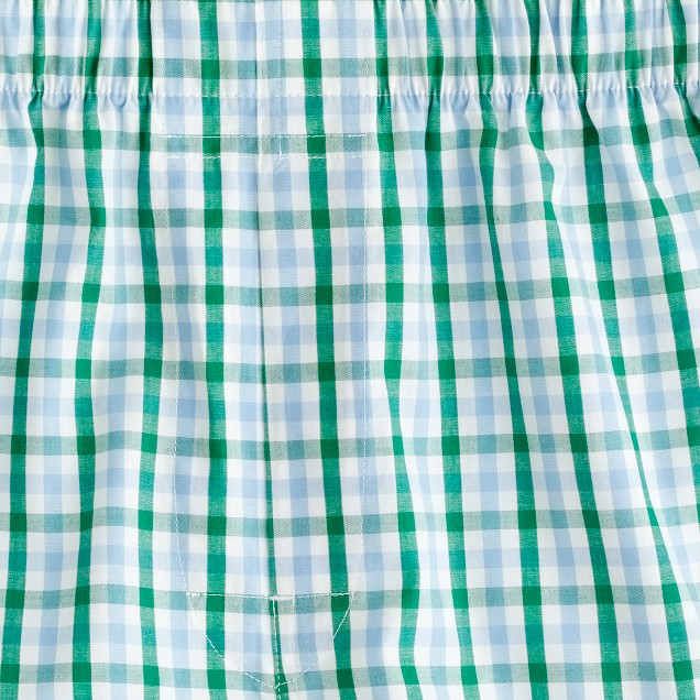 Tattersall boxers in green