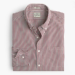 Slim Secret Wash shirt in vintage burgundy spencer stripe