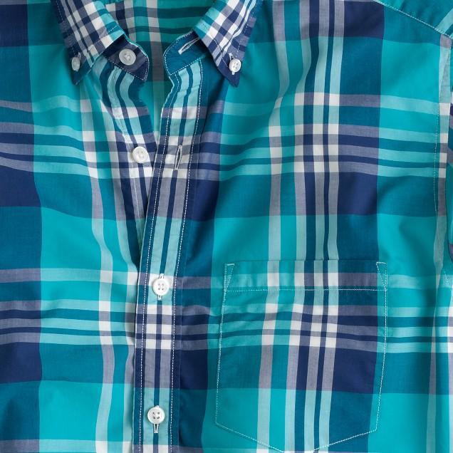 Lightweight shirt in havana blue plaid