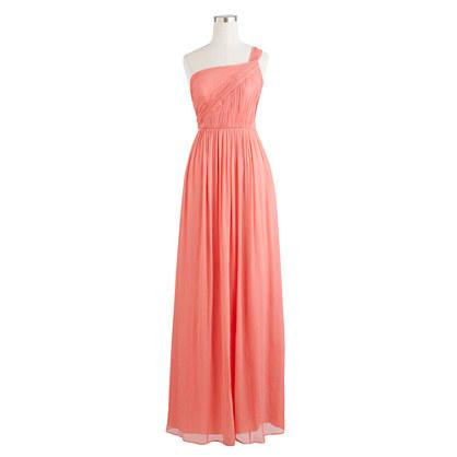 Petite Lucienne long dress in silk chiffon