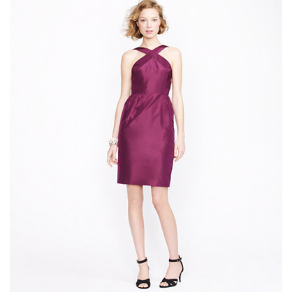 Whitley dress in silk taffeta