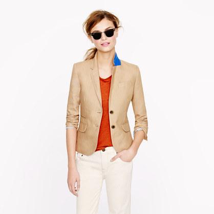 Petite classic schoolboy blazer in linen