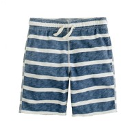 Boys' pull-on playtime short in seaside stripe