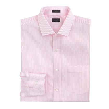 Ludlow spread-collar shirt in pink stripe