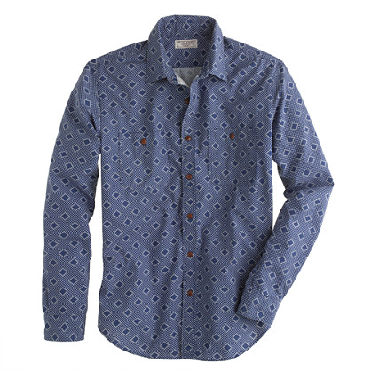 Wallace & Barnes ring diamond bandana shirt