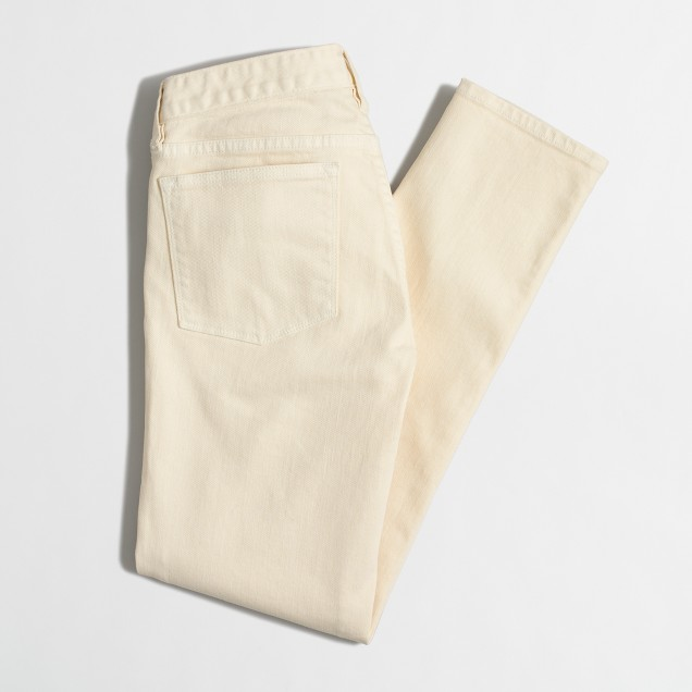 Factory garment-dyed skinny jean
