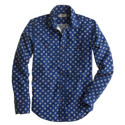 Wallace & Barnes dot diamond bandana shirt
