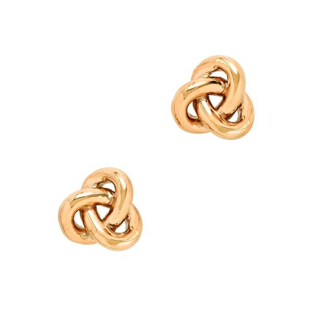 Golden knot earrings