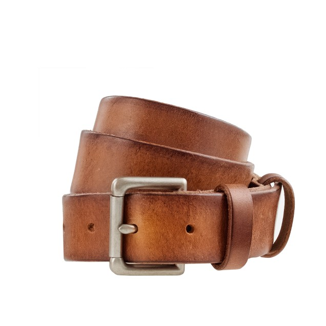 Leather double-keeper roller belt