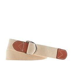 Cotton webbing D-ring belt
