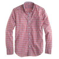 Slim lightweight shirt in poppy plaid