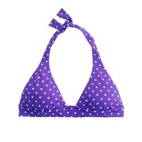 Polka-dot triangle halter top