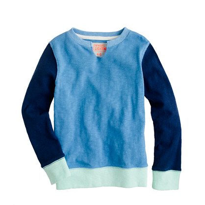 Boys' pullover in colorblock