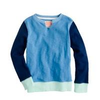 Boys' pullover in colorblock