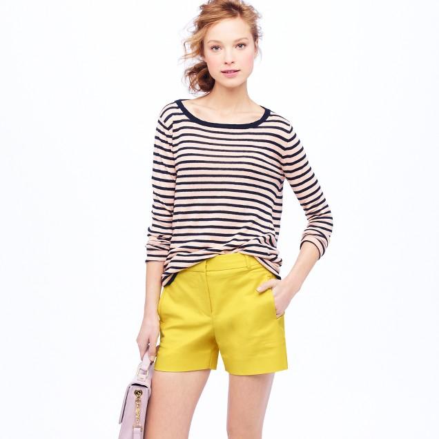 High-waist double-serge short