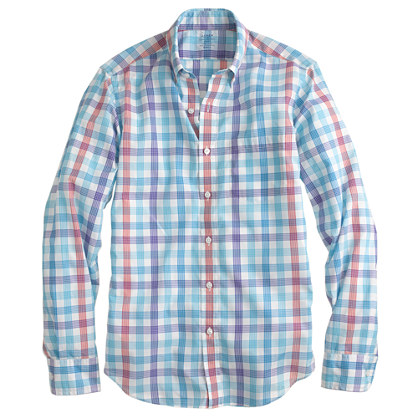 Slim lightweight shirt in multi-check