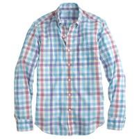 Lightweight shirt in multi-check