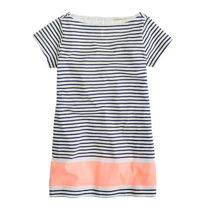 Girls' stripe tee dress