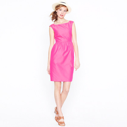 Lucille dress in cotton-silk faille