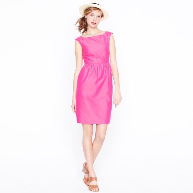 Lucille dress in cotton-silk faille