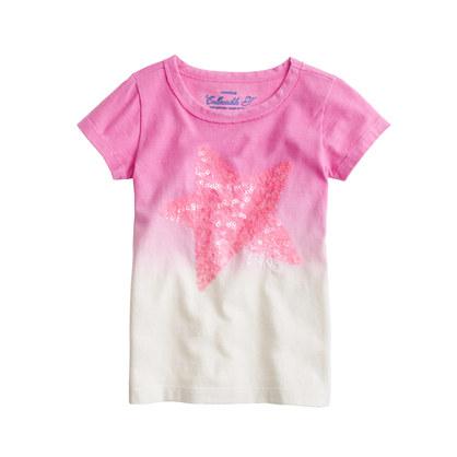Girls' dip-dye sequin star tee