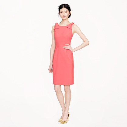 Origami bow dress in stretch wool