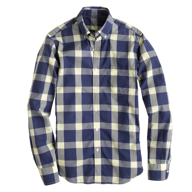 Lightweight shirt in vivid yellow plaid