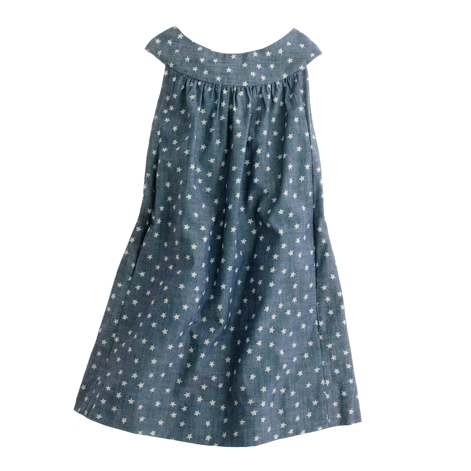 Girls' star chambray dress :