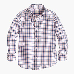 Kids' Secret Wash shirt in tattersall