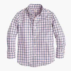 Boys' Secret Wash shirt in tattersall