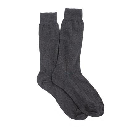 Ribbed cotton dress socks