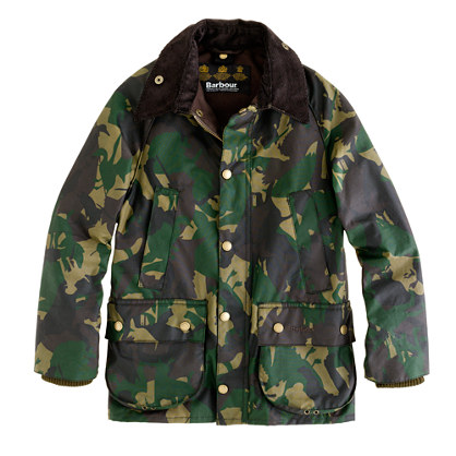 Boys' Barbour® camouflage Bedale jacket