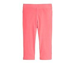 Girls' everyday capri leggings in neon