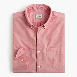 Slim Secret Wash shirt in end-on-end cotton