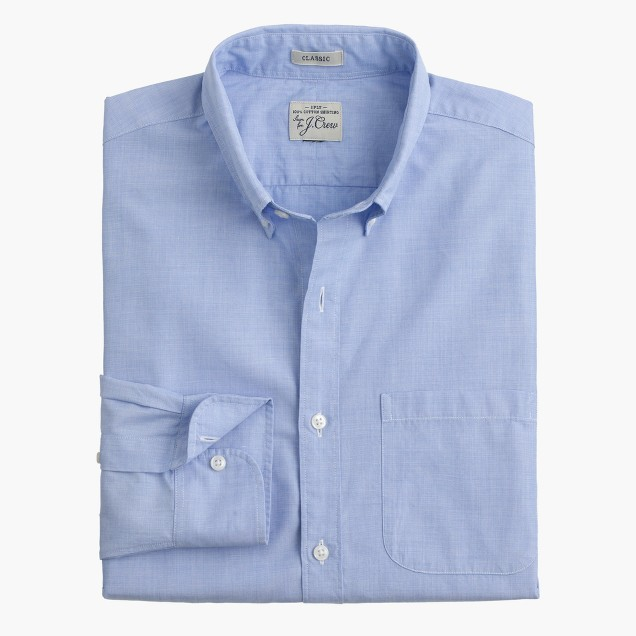 Secret Wash shirt in end-on-end cotton