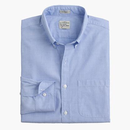 Secret Wash shirt in end-on-end cotton