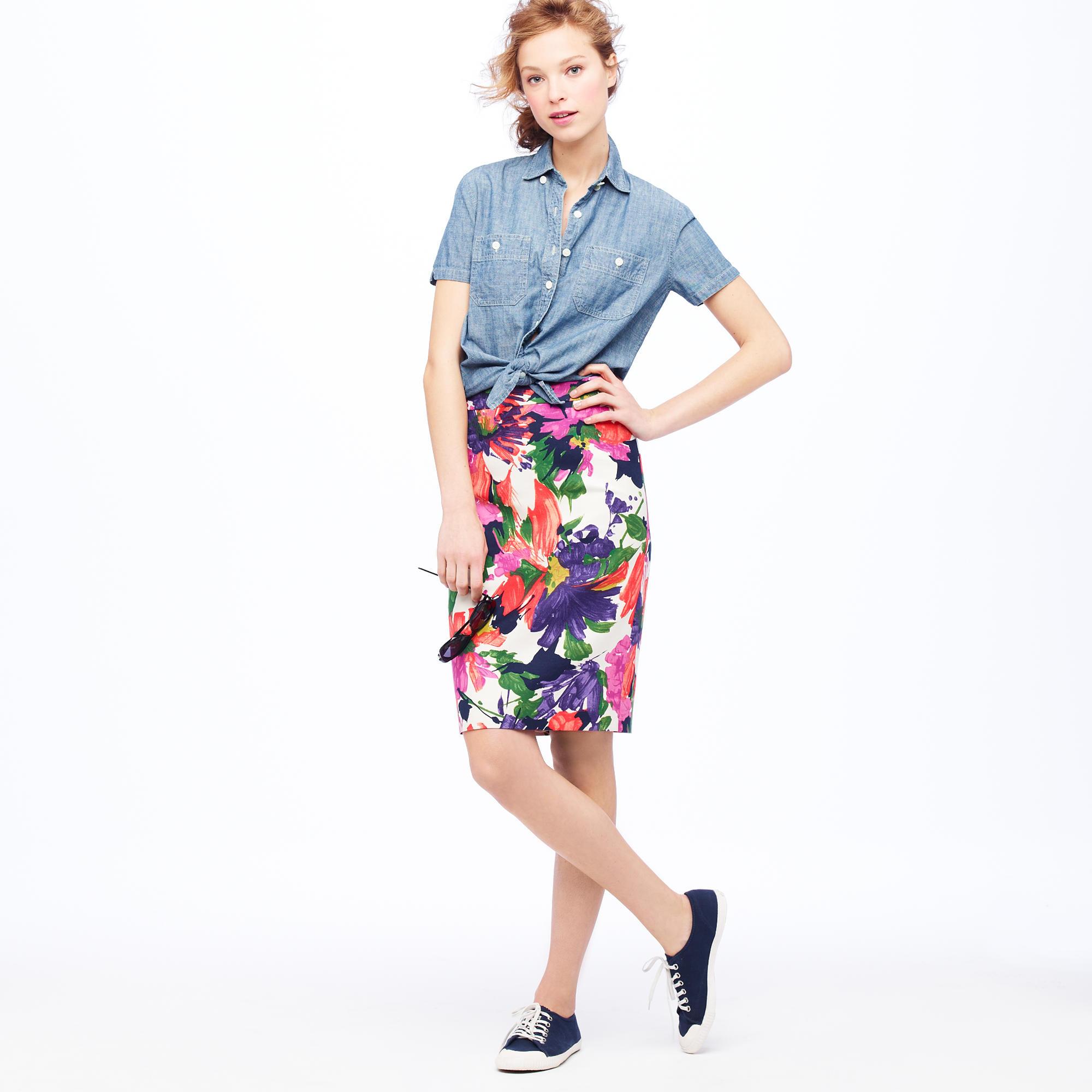 No. 2 pencil skirt in garden floral : Women pencil | J.Crew