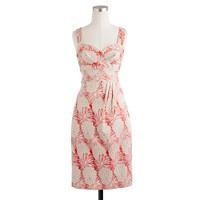 Pom-pom floral jaquard dress