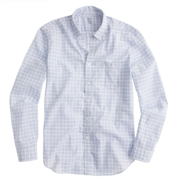 Secret Wash lightweight shirt in blue check
