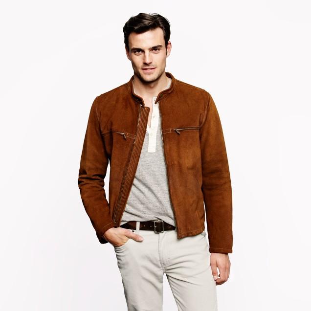 Suede racer jacket