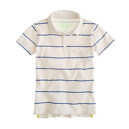 Boys' polo in ripcord stripe