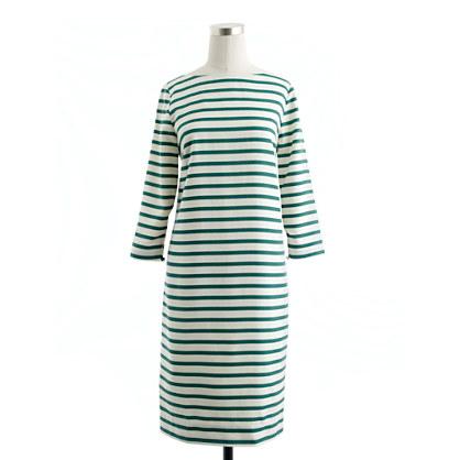 Collection stripe silk shift