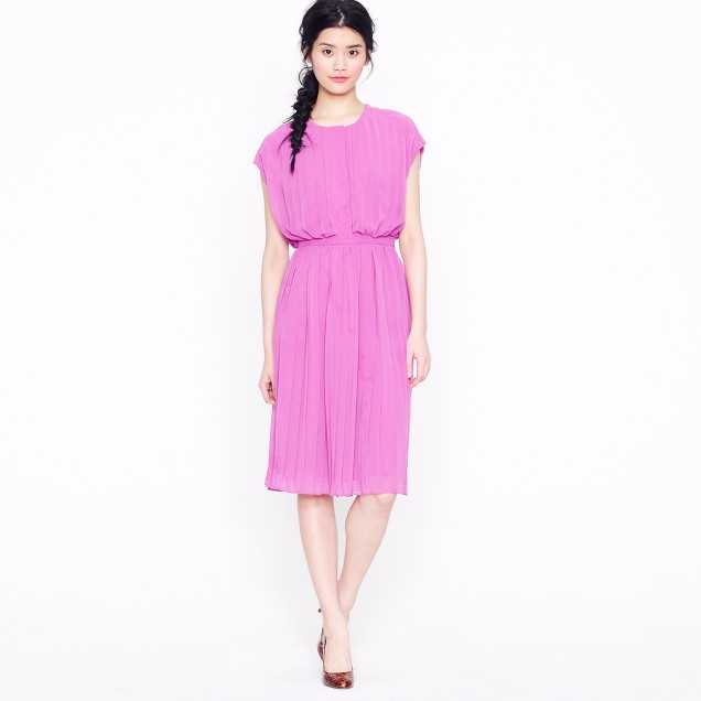Collection pleated blouson dress