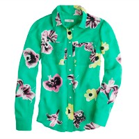 Collection silk punk floral blouse