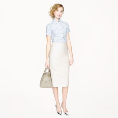 Long No. 2 pencil skirt in double-serge cotton : Women pencil | J.Crew