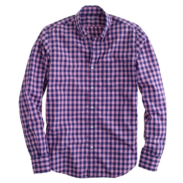 Tall lightweight shirt in bright gingham