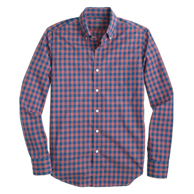 Slim lightweight shirt in bright gingham