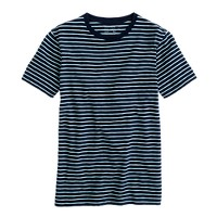 Slub jersey tee in pencil stripe