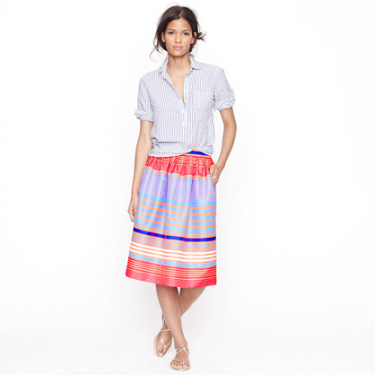 Collection Neon-stripe skirt