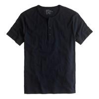 Short-sleeve jersey henley